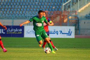 أحمد عبدالظاهر من مباراة بتروجيت والمقاصة