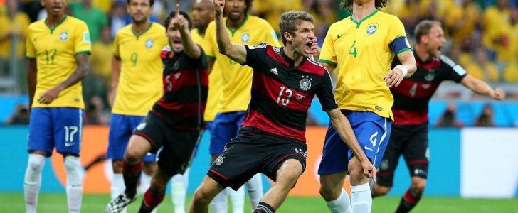مباراة سابقة بين ألمانيا والبرازيل