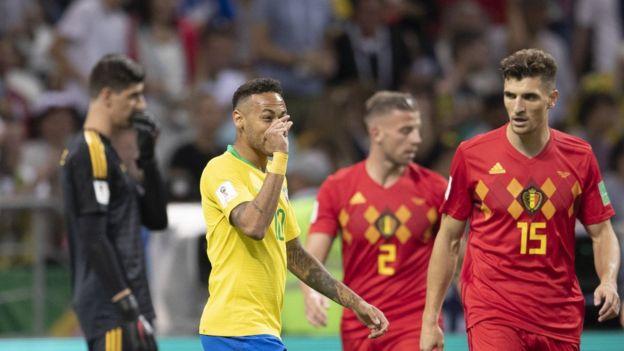 بلجيكا يسحق البرازيل في دور النصف نهائي لكأس العالم 2018 وخروج البرازيل