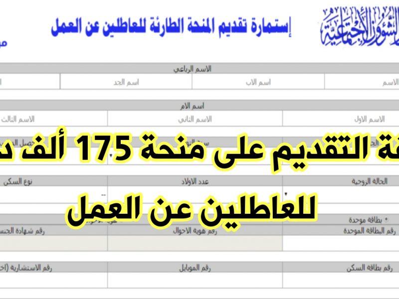 التسجيل علي استمارة منحة الطوارئ للعاطلين عن العمل 2020 في العراق molsa.gov عبر وزارة الشؤون الاجتماعية