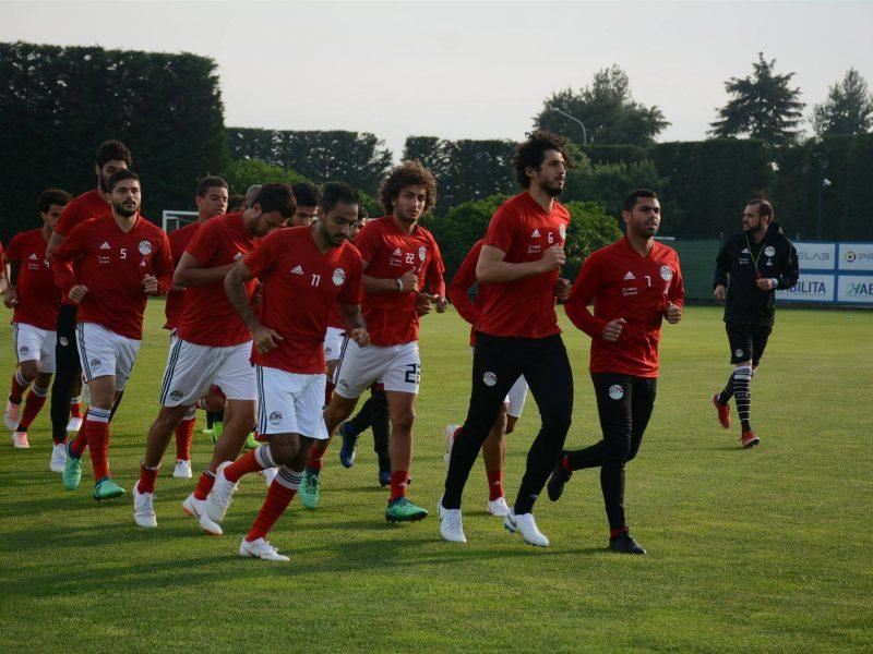 منتخب مصر يخوض مرانه الأخير فى إيطاليا قبل السفر إلى بلجيكا بالصور