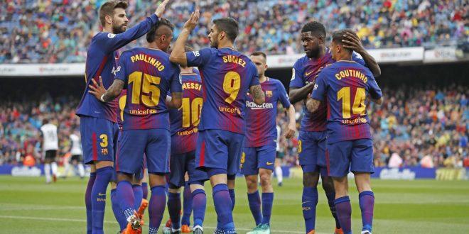 صورة من مباراة برشلونة وفالنسيا