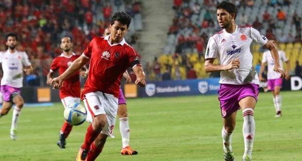 صورة من مباراة الوداد المغربي والاهلي المصري